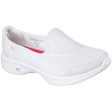 Skechers Go Walk 4 Propel Womens Slip On Walking Shoes White 10