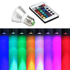 E27 16 Color Changing 3W RGB LED Light Bulb Lamp With Remote Control Linterna Luz