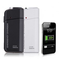 USB Portable Battery Charger for Samsung Galaxy S S2 S3 S4 S5 S6 S7 S8 Plus (Black)
