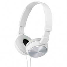 sony MDRZX310-WQ Foldable Headphones - Metallic White