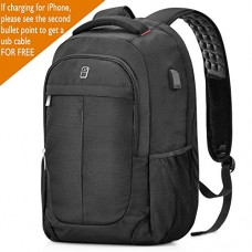 Laptop Backpack, Sosoon Business Bags with USB Charging Port Anti-Theft Water Resistant Polyester School Bookbag for College Travel Backpack for 15...