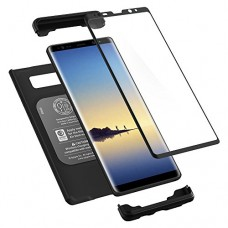 Spigen Thin Fit 360 Galaxy Note 8 Case with Exact Slim Full Protection and Tempered Glass Galaxy Note 8 Screen Protector (2017) - Black