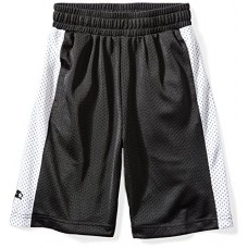 Starter Boys' Mesh Basketball Shorts, Prime Exclusive, Black with White Stripe, L (12/14)