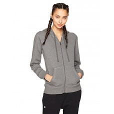 Starter Women's Full-Zip Hoodie, Prime Exclusive, Iron Grey Heather, L