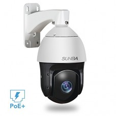 SUNBA 601-D20X IP PoE+ High Speed PTZ Outdoor Security Camera, 20x Optical Zoom HD 1080P ONVIF with Audio and Night Vision up to 800ft