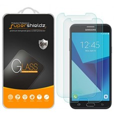 [2-Pack] Supershieldz for Samsung Galaxy J7 (2017) Tempered Glass Screen Protector, Anti-Scratch, Anti-Fingerprint, Bubble Free, Lifetime Replaceme...