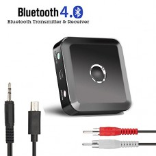SUPRBIRD Bluetooth Transmitter and Receiver Wireless 3.5mm Bluetooth Stereo Audio Adapter for Home/ Car Audio Stereo System (aptX Low Latency, Pair...
