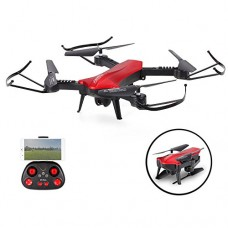 SZJJX RC Drones Foldable Remote Control Wifi Quadcopter FPV VR Helicopter 2.4GHz 6-Axis Gyro 4CH with Optical Flow Positioning, Adjustable Wide Ang...