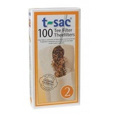 T-Sac Tea Filter Bags, Disposable Tea Infuser, Number 2-Size, 2 to 4-Cup Capacity, Set of 200