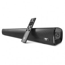(Updated Version) Soundbar, TaoTronics Sound Bar Wired and Wireless Bluetooth Audio Speakers (25-Inch, Included Optical Cable, Dual Connection Meth...