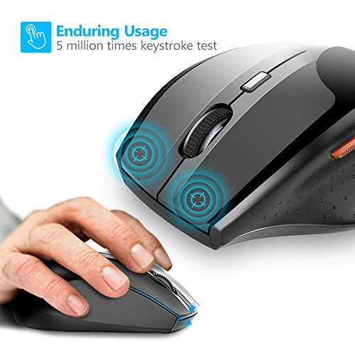 fcd9f284acb TeckNet Classic 2.4G Portable Optical Wireless Mouse with USB Nano Receiver  for Notebook,PC,Laptop,Computer,6 Buttons,18 Months Battery ...