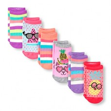 The Children's Place Baby Girls 6 Pack Ankle Socks, Multi Clr 01451, 3T-4T