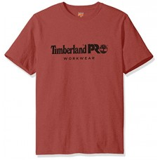 Timberland PRO Men's Cotton Core Short-Sleeve T-Shirt, Red Oxide, Large