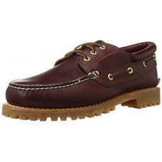 Timberland Men's Classic 3 Eye Lug Boat Shoe, Burgundy/Brown,12 M US