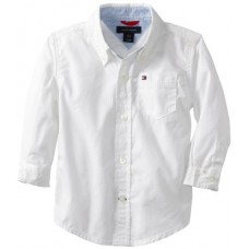 Tommy Hilfiger Baby Boys' Classic Shirt, White, 24 Months
