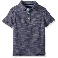 Tommy Hilfiger Big Boys' Seed Polo, Swim Navy, Medium