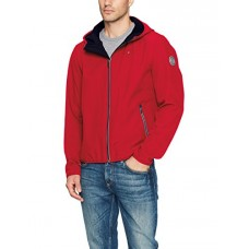 Tommy Hilfiger Men's Hooded Performance Soft Shell Jacket, Tommy Red, Medium