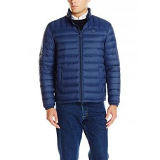 Tommy Hilfiger Men's Packable Down Jacket (Regular and Big & Tall Sizes), Navy, Small