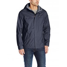 Tommy Hilfiger Men's Waterproof Breathable Hooded Jacket, Navy, Medium