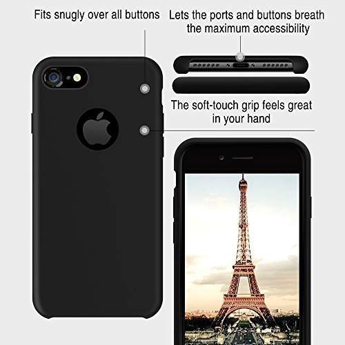 cheap for discount d2917 63528 iPhone 7 Case, TORRAS [Love Series] Liquid Silicone Gel Rubber ...