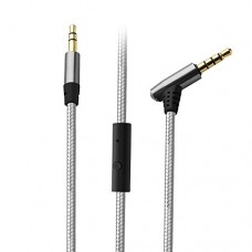 Aux Cable, Tsumbay Audio Cable with In-line Remote, Microphone 3.5mm Male to Male Cable Premium Nylon Auxiliary Cord for Car, Headphone, iPhone, Co...