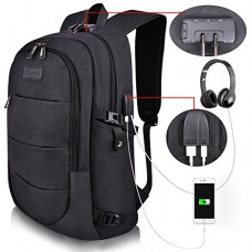 Tzowla Business Laptop Backpack Water Resistant Anti-theft College Backpack with USB Charging Port and Lock 15.6 Inch Computer Backpacks for Women ...
