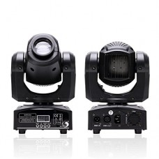 U`King LED Moving Head Light Spot 4 Color Gobos Light 25W DMX with Show KTV Disco DJ Party for Stage Lighting