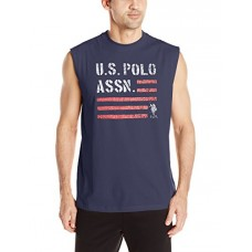 U.S. Polo Assn. Mens Classic Muscle T-Shirt, 6337-Classic Navy, L
