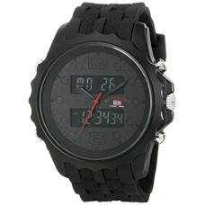 U.S. Polo Assn. Sport Men's US9269 Black Watch With Black Rubber Band