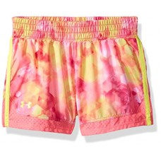 Under Armour Little Girls' Sunburst Run Short, Pink Punk, 5