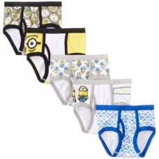 Handcraft Little Boys' Despicable Me  Brief (Pack of 5), Assorted, 4