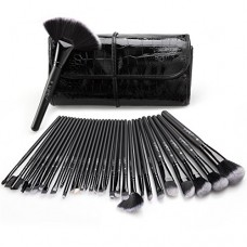 Makeup Brush Set, USpicy 32 Pieces Professional Makeup Brushes Essential Cosmetics With Case, Face Eye Shadow Eyeliner Foundation Blush Lip Powder ...