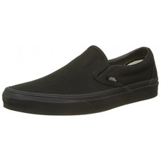 Vans Unisex Classic Slip-On(tm) Core Classics Black/Black (Canvas) Sneaker Men's 3.5, Women's 5 Medium
