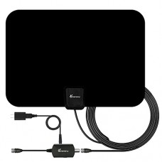 TV Antenna - 2018 Newest Indoor Amplified Digital HDTV Antenna 50 Mile Range Local Broadcast 4K HD VHF UHF Signal TV Channels for Smart Television ...