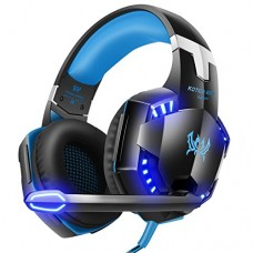 VersionTech G2000 Stereo Gaming Headset for PS4 Xbox One, Bass Over-Ear Headphones with Mic, LED Lights and Volume Control for Laptop, PC, Mac, iPa...