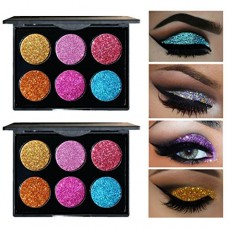 Victorcn 6 Color Shimmer Glitter Eye Shadow Palette Cosmetic Makeup Set (A)