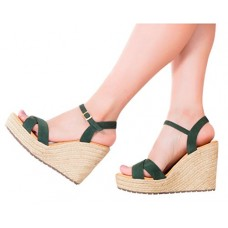 VIDALeather Vida Leather Women Criss Cross Leather Colored Platform Ankle Strap Espadrille Colombian Sandals Sandalias de Plataforma de Moda Para D...