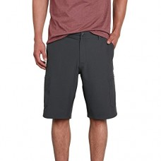 "Volcom Men's SNT Cargo 21"" Hybrid Short, Charcoal Heather, 40"