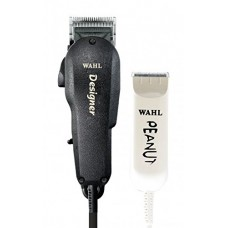Wahl Professional All Star Clipper/Trimmer Combo #8331 – Features Designer Clip and Peanut Trimmer – Includes Accessories - Black