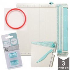 We R Memory Keepers Scoring Board for Paper Folding, Scrapbooking, Crafting, Trimming, Cutting, Crease Score Board Bundle with Super Sticky Tape an...