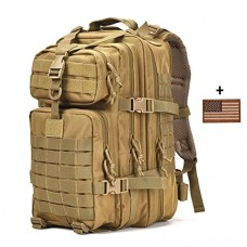 Small Military Tactical Backpack 3 Day Assault Pack Army Molle Bug Out Bag Backpacks Hunting Rucksacks 34L Tan