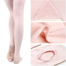 Girls' Soft Dance Tight/Ballet Footed Tight Convertible Transition Socks