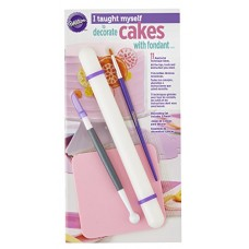 Wilton I Taught Myself To Decorate Cakes With Fondant Book Set - Fondant Cutter and Tools