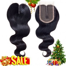 Brazilian Virgin Hair Body Wave Lace Closure Unprocessed Human Hair Lace Closure Middle Part Closure (8 inch, Body)