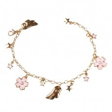 Wolisen Card Captor Sakura star moon cat Flower Bracelets for Girl Gifts(Cat,Sakura) (Sakura)