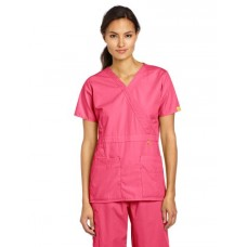 WonderWink Women's Scrubs Peek-A-Boo Top, Hot Pink, Medium