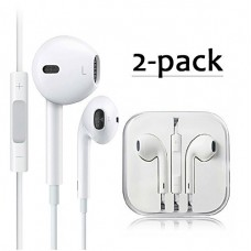 2-PACK Premium Earphones/Earbuds/Headphones with Stereo Mic&Remote Control for iPhone iPad iPod Samsung Galaxy and More Android Smartphones £¨Compa...