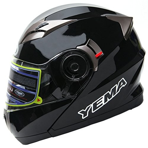 feaad8de Motorcycle Modular Full Face Helmet DOT Approved - YEMA YM-925 Motorbike  Moped Street Bike Racing Snowmobile ...