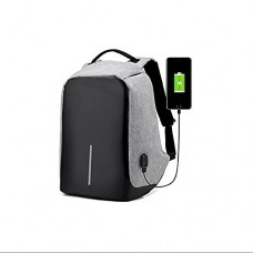 YouGo USB Charging Men 15 inch Laptop Backpacks For Teenager Fashion Male Mochila Leisure Travel backpack anti Thief (gray)
