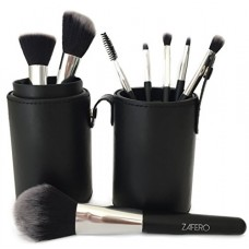 ZAFERO Professional Makeup Brushes, Cylinder Case, Pack of 8